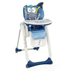 Chicco, Polly 2 Start, krzesełko do karmienia, niebieskie