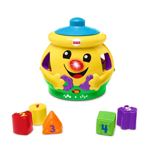 Fisher-Price, garnuszek na klocuszek, zabawka edukacyjna