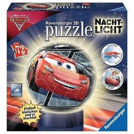 Ravensburger, Auta 3, puzzle 3D, lampka, 72 elementy