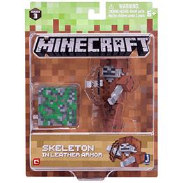 Minecraft, Szkielet w skórzanej zbroi, figurka