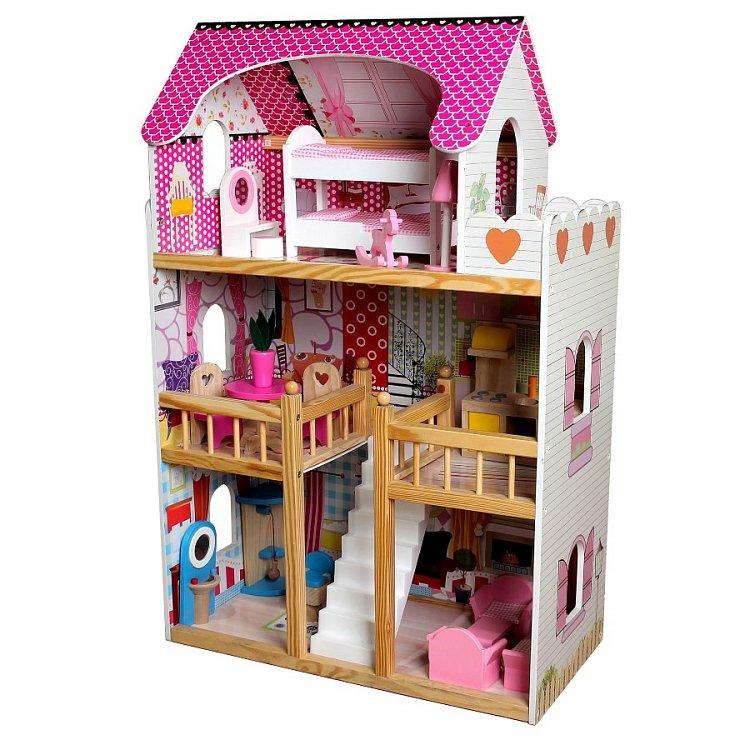 Tree Toys, drewniany domek dla lalek