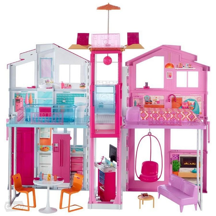 Barbie, Miejski domek dla lalek, zestaw