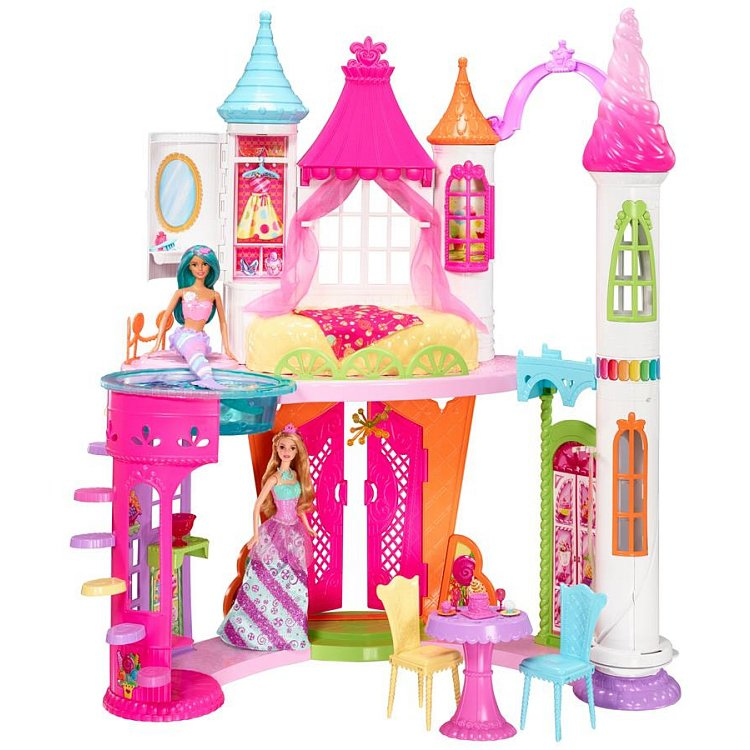 Barbie, Pałac Krainy Słodkości, zestaw bez lalki