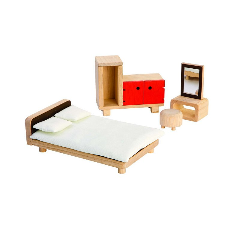 Plan Toys, sypialnia, meble dla lalek