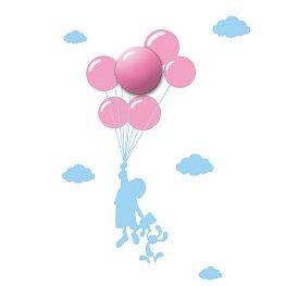 Milagro, lampka dziecięca z naklejkami, balony