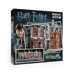 Wrebbit, Harry Potter, Diagonal Alley, puzzle 3D, 450 elementów