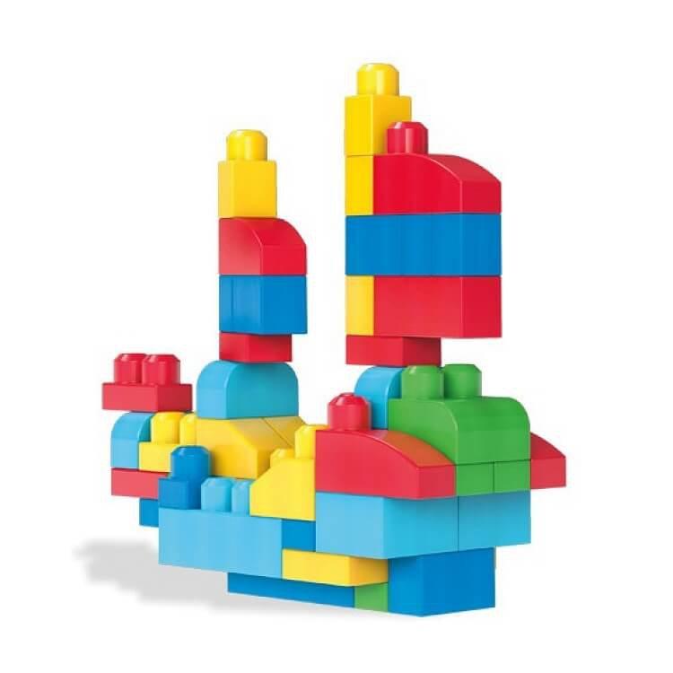Mega Bloks, Torba niebieska, klocki, 60 elementów
