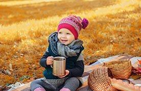 Rozgrzewające herbatki jesienne dla dzieci